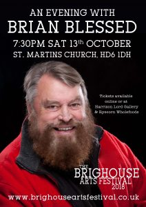 Brian Blessed at the Brighouse Arts Festival 2018